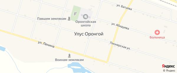 Улица Ленина на карте Оронгой улуса с номерами домов