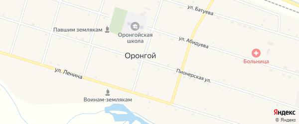 Пионерская улица на карте Оронгой улуса с номерами домов