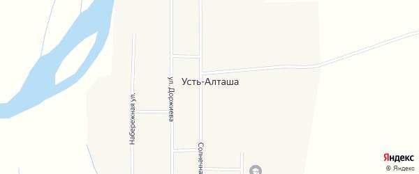 Набережная улица на карте улуса Усть-Алташа с номерами домов