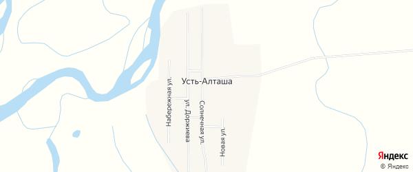 Карта улуса Усть-Алташа в Бурятии с улицами и номерами домов