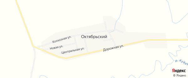 Карта Октябрьского поселка в Бурятии с улицами и номерами домов