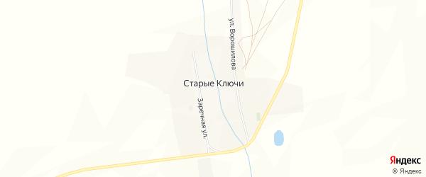 Карта села Старых Ключей в Бурятии с улицами и номерами домов