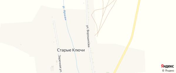 Улица Ворошилова на карте села Старых Ключей с номерами домов