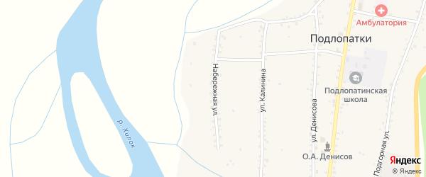 Набережная улица на карте села Подлопатки с номерами домов