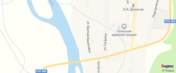 Улица Братьев Борисовых на карте села Подлопатки с номерами домов