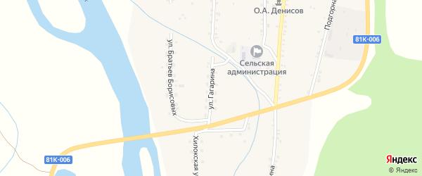 Улица Гагарина на карте села Подлопатки с номерами домов