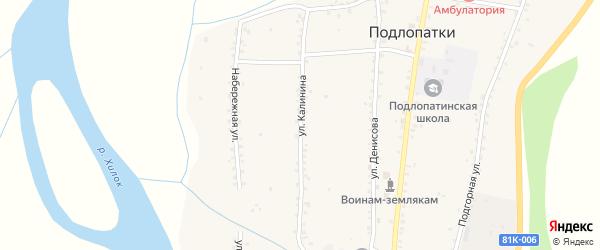 Улица Калинина на карте села Подлопатки с номерами домов