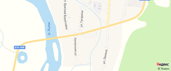 Хилокская улица на карте села Подлопатки с номерами домов