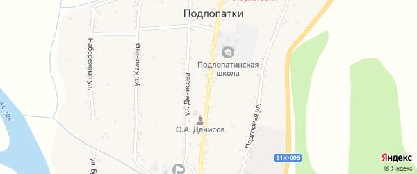Улица Ленина на карте села Подлопатки с номерами домов