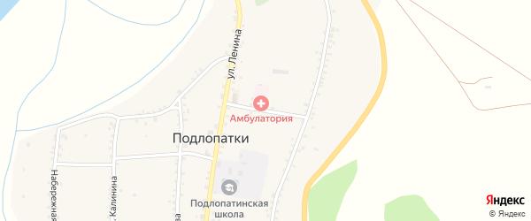 Больничный переулок на карте села Подлопатки с номерами домов