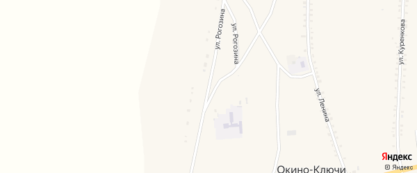 Улица Рогозина на карте села Окино-Ключи с номерами домов