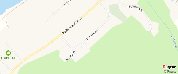 Лесная улица на карте села Сухой с номерами домов