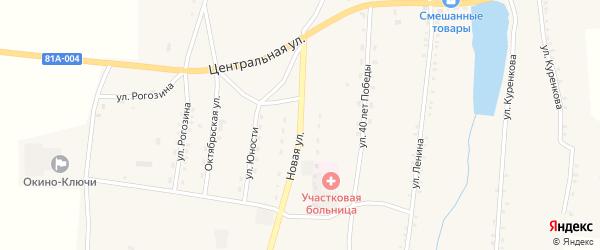 Новая улица на карте села Окино-Ключи с номерами домов