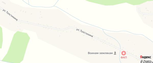 Лесная улица на карте села Каленово с номерами домов