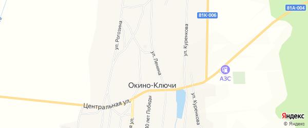Карта села Окино-Ключи в Бурятии с улицами и номерами домов