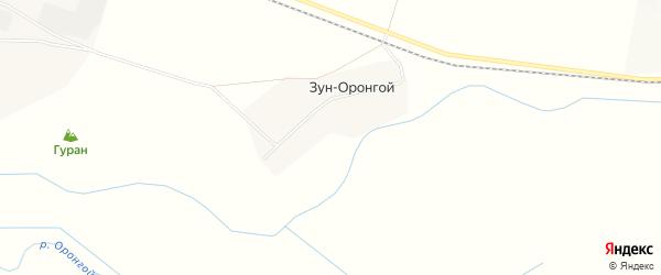 Карта Зун-Оронгой улуса в Бурятии с улицами и номерами домов