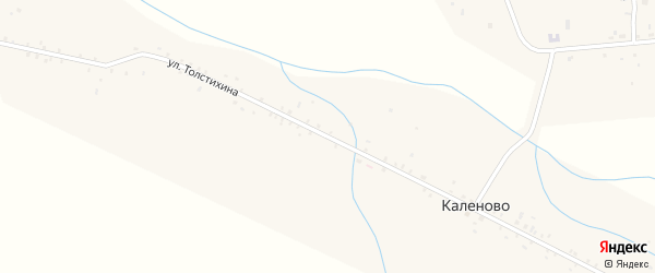 Улица Толстихина на карте села Каленово с номерами домов