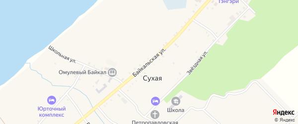 Байкальская улица на карте ОП Байкальского прибоя населенного пункта с номерами домов