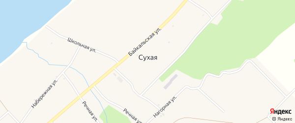 Морская улица на карте села Сухой с номерами домов