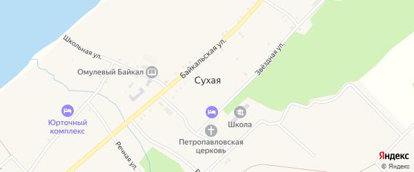 Озёрная улица на карте села Сухой с номерами домов