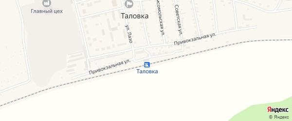Улица Новый микрорайон на карте поселка Таловки с номерами домов