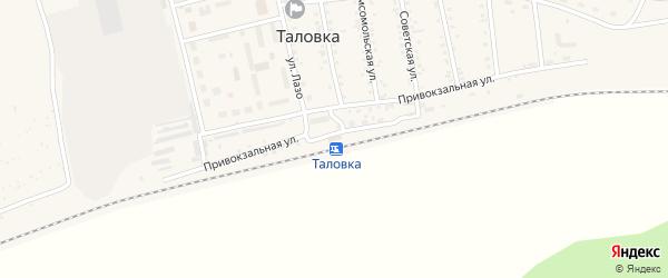 Улица Некрасова на карте поселка Таловки с номерами домов