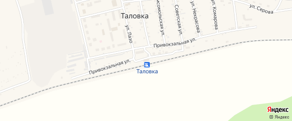 Улица Мичурина на карте поселка Таловки с номерами домов
