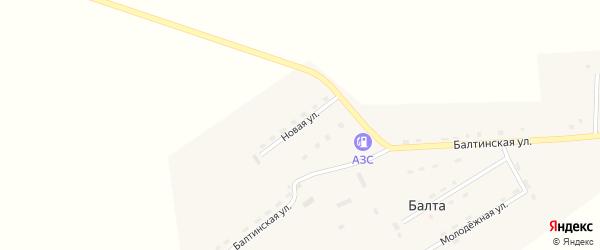 Новая улица на карте улуса Балты с номерами домов