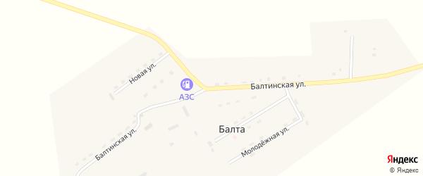 Балтинская улица на карте улуса Балты с номерами домов