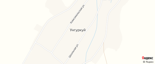 Партизанская улица на карте села Унгуркуя с номерами домов