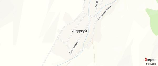Карта села Унгуркуя в Бурятии с улицами и номерами домов