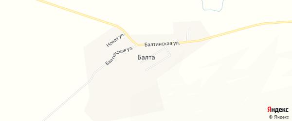 Карта улуса Балты в Бурятии с улицами и номерами домов
