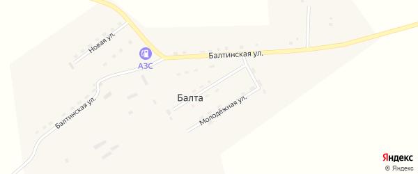 Советская улица на карте улуса Балты с номерами домов