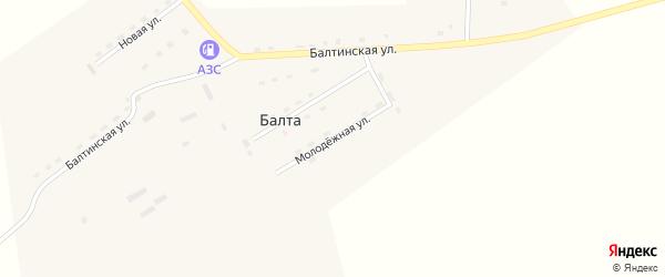 Молодежная улица на карте улуса Балты с номерами домов