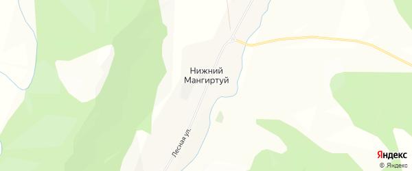 Карта села Нижнего Мангиртуя в Бурятии с улицами и номерами домов
