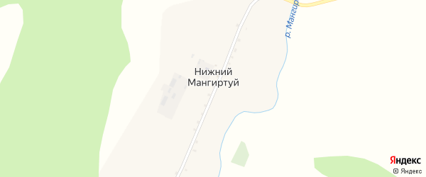 Лесная улица на карте села Нижнего Мангиртуя с номерами домов