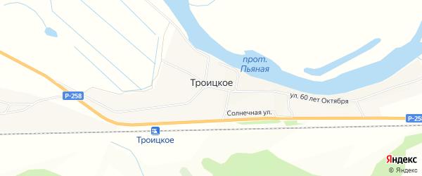 Карта Троицкого села в Бурятии с улицами и номерами домов