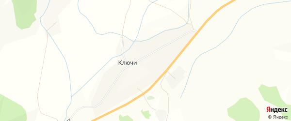Карта села Ключи в Бурятии с улицами и номерами домов
