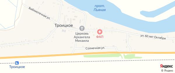 Библиотечная улица на карте Троицкого села с номерами домов