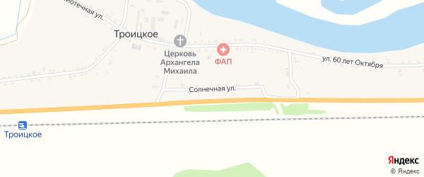 Солнечная улица на карте Троицкого села с номерами домов
