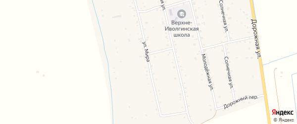 Улица Мира на карте села Верхней Иволги с номерами домов