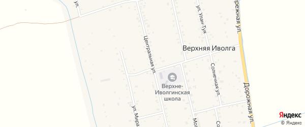 Центральная улица на карте села Верхней Иволги с номерами домов