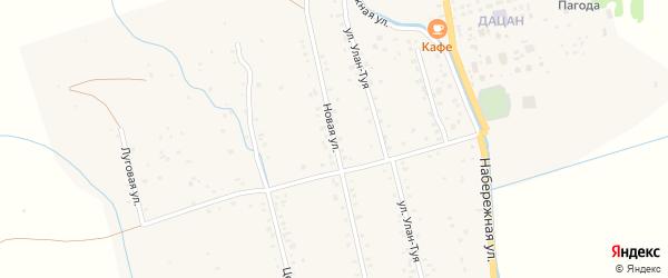 Новая улица на карте села Верхней Иволги с номерами домов