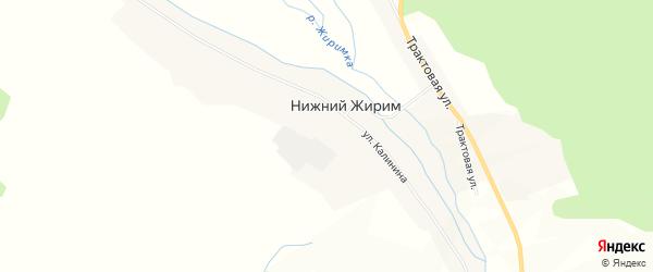 Карта села Нижнего Жирима в Бурятии с улицами и номерами домов