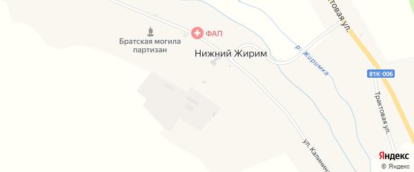 Трактовая улица на карте села Нижнего Жирима с номерами домов