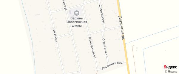 Молодежная улица на карте села Верхней Иволги с номерами домов