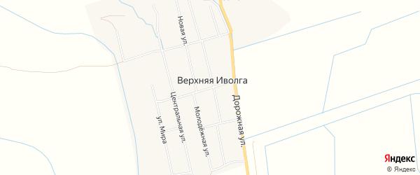 Территория ДНТ Бууса на карте села Верхней Иволги с номерами домов
