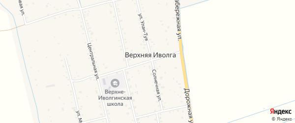 Дорожный переулок на карте села Верхней Иволги с номерами домов