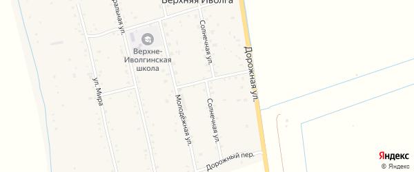 Солнечная улица на карте села Верхней Иволги с номерами домов