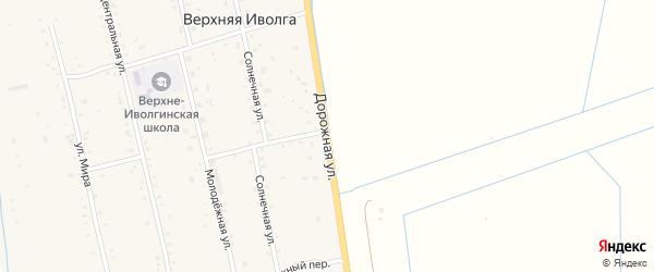 Дорожная улица на карте села Верхней Иволги с номерами домов